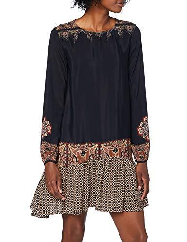 Desigual Damen Vest_praga Casual Dress, Schwarz, L EU