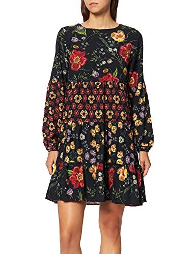 Desigual Girls Vest_ALEJANDRITA Casual Dress, Black, 11/12